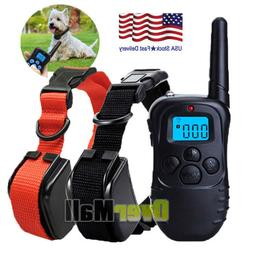 1000 Yards Dog Shock Training Collar Remote Waterproof for L