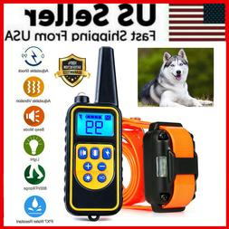 2600 FT Remote Dog Shock Training Collar Rechargeable Waterp