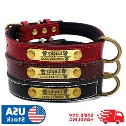 custom dog collar leather personalized brass name