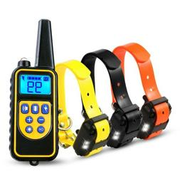 2600FT Remote Dog Shock Training Collar Rechargeable Waterpr