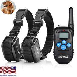 Dog Shock Training Collar Rechargeable LCD Remote Control Wa