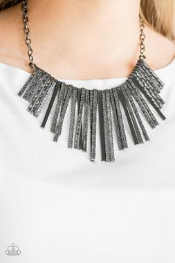 Paparazzi Jewelry Necklace ~Welcome To The Pack - Black