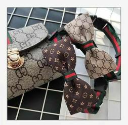 Luxury LV Adjustable Pet Collar And Leash, with Sizes