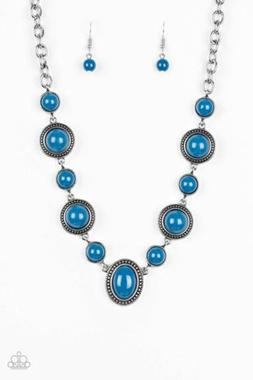 Paparazzi Voyager Vibes Blue Necklace